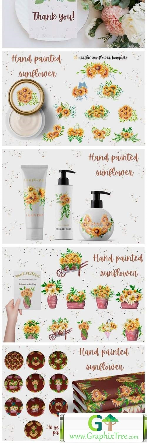 Hand Painted Sunflower Collection