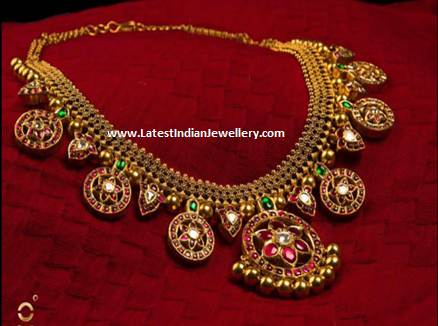 Ruby Bottu Antique Necklace