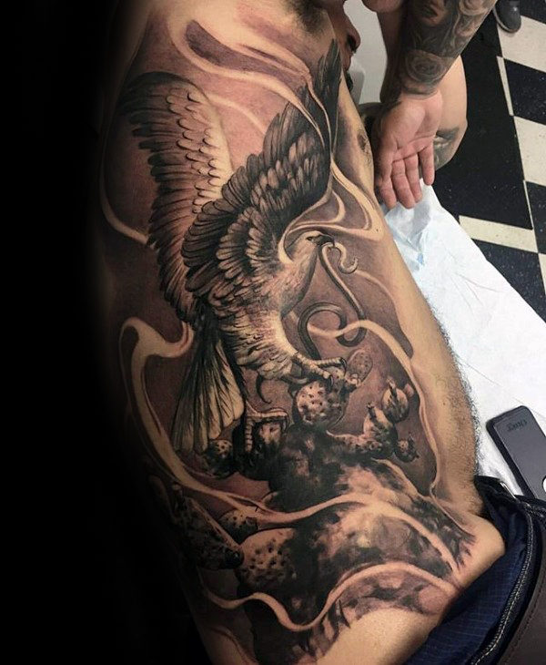 60+ Bald Eagle Tattoos For Men (2019) Tribal Designs With