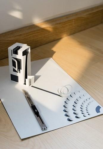 Ngôi nhà lấy cảm hứng từ... giấy