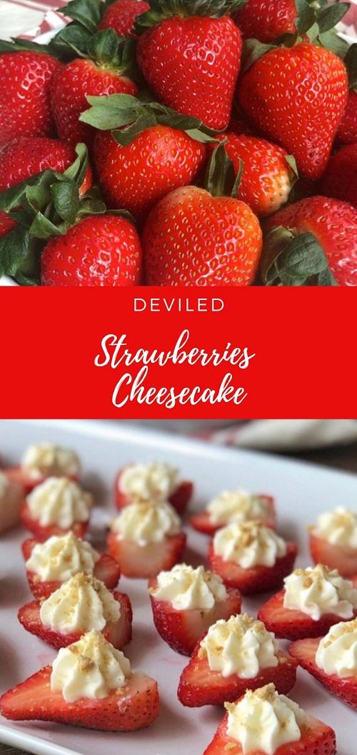 Deviled Strawberries Cheesecake