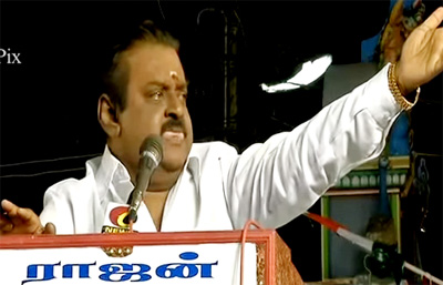 vijayakanth loosing control and getting angry again at the public