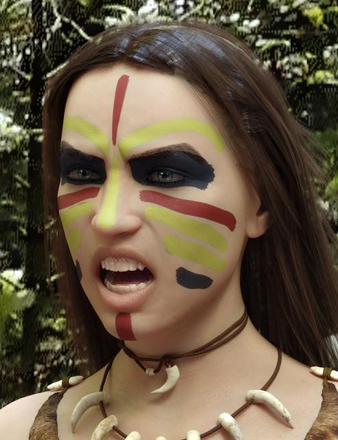 Ultimate Make-Up: Tribal for Genesis 8 Female