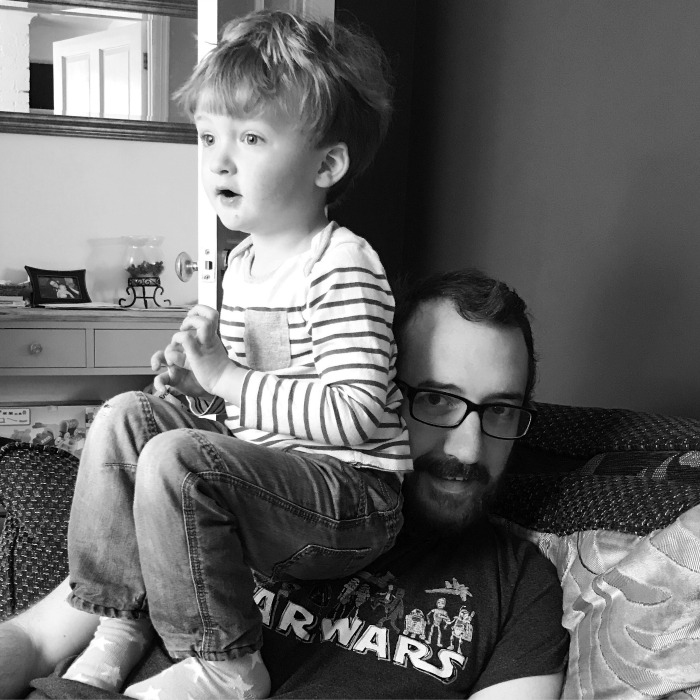 Sitting on Daddy