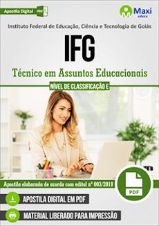 Apostila IFG 2018 Técnico em Assuntos Educacionais