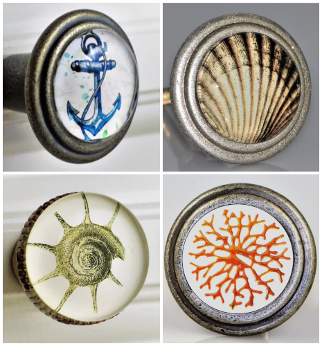 Vintage Coastal Beach Knobs Hardware Cabinets and Drawers