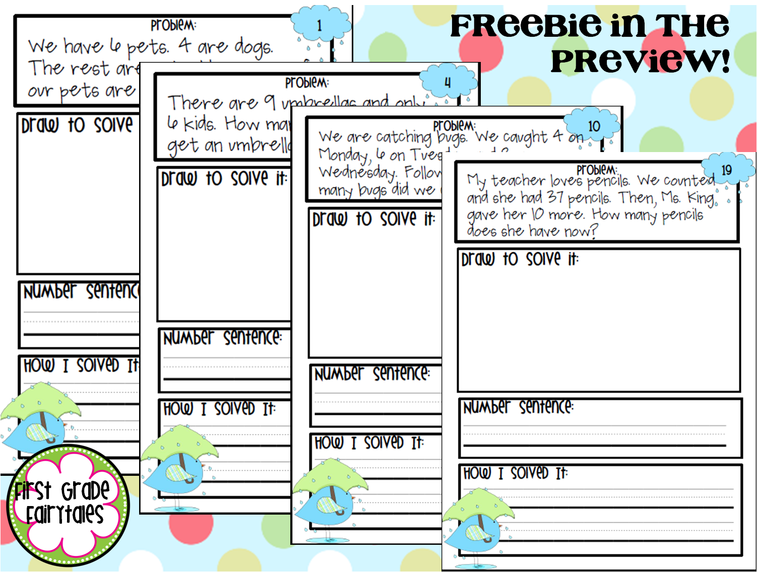 Workbooks inferencing worksheets grade 3 : First Grade Fairytales: Making Inferences & Problem of the Day FREEBIE
