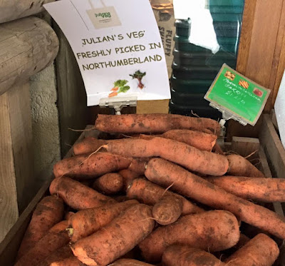 Northumberland carrots for sale from Moorhouse Farm Shop Stannington, near Morpeth, Northumberland