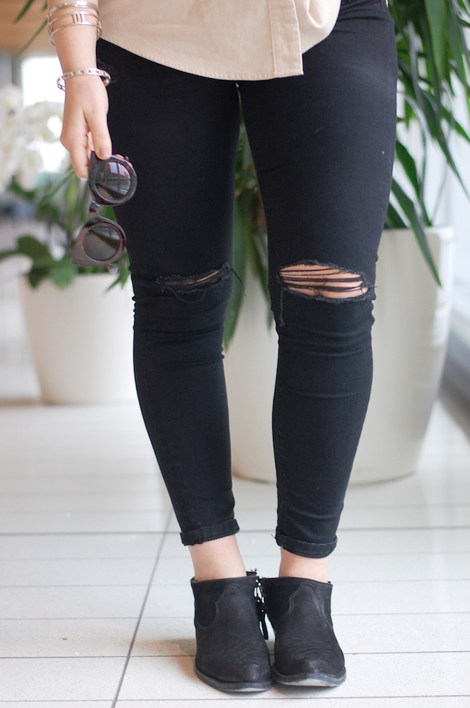 Topshop ripped Jaime jeans blogger vancouver