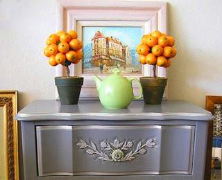 Мастерим новогоднее деревце из мандаринов, топиарий