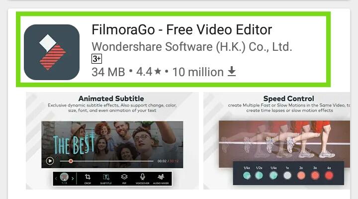 filmorago free download apk