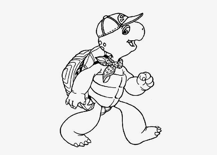 franklin the turtle coloring pages - photo#20