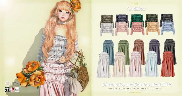 {amiable}Sharing Top & Maxi Skirt@the N°21 August(50%OFF SALE).