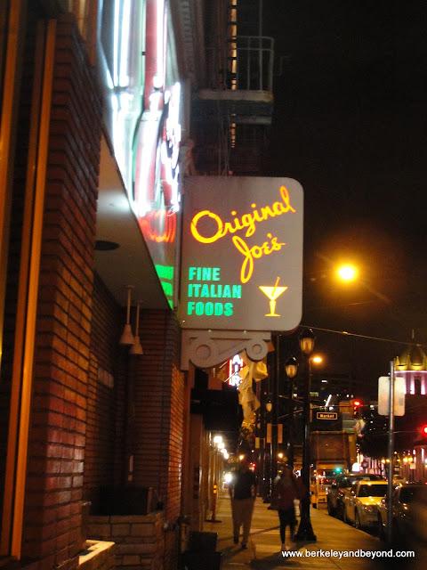 neon sign outside Original Joe's in San Jose, California