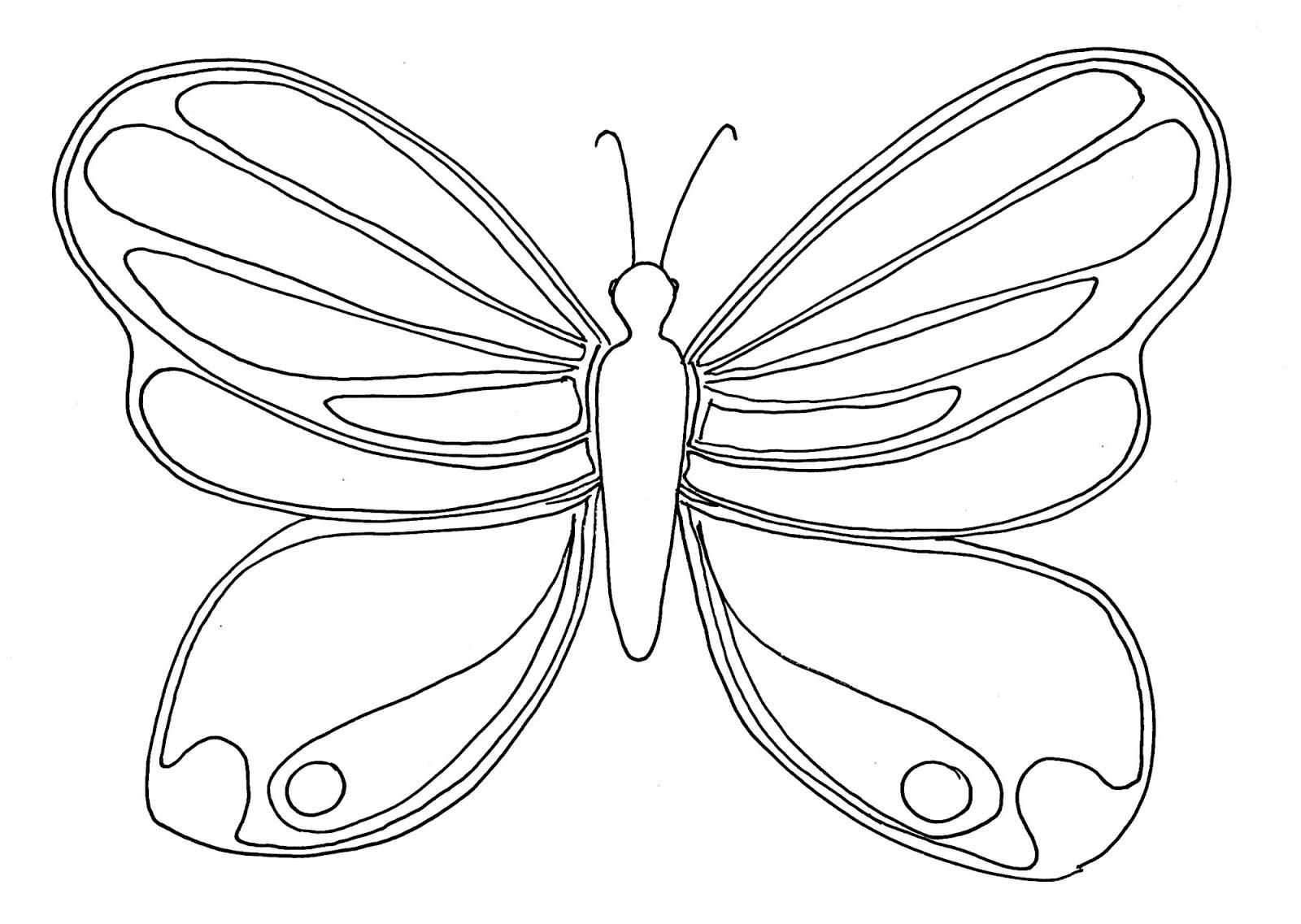 Tranh tô màu con bướm cơ bản