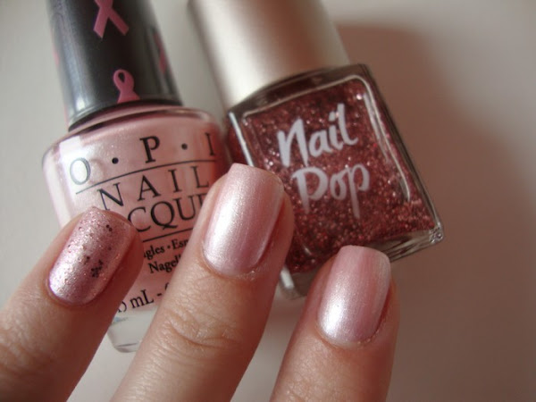 OPI - PINK OF HEARTS 2010 & GLITTER