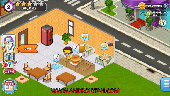 Download Cafeland World Kitchen Mod Apk v2.0.5 Unlimited Money Android Terbaru