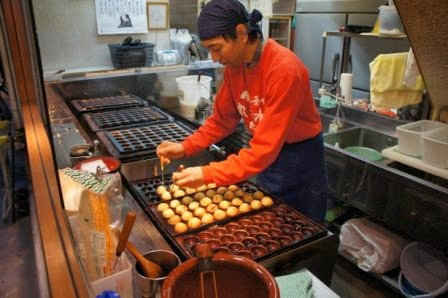 Kyoto - takoyaki stand