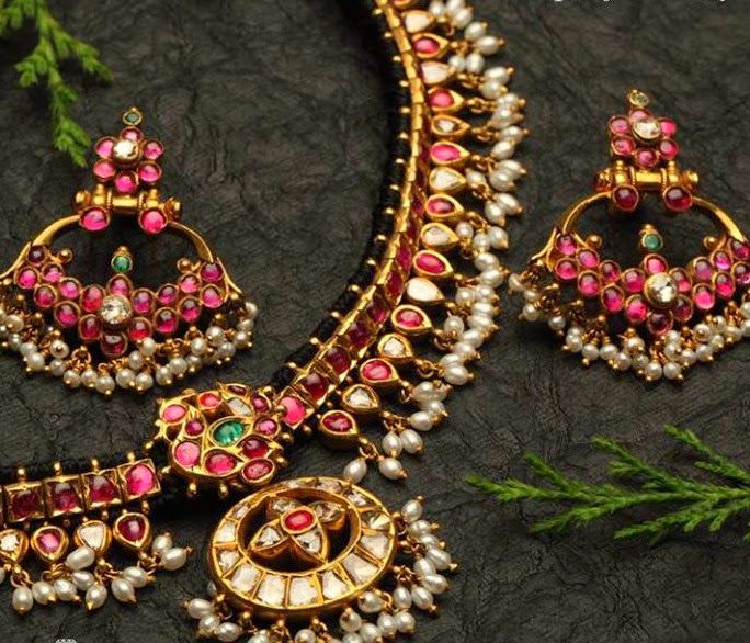 Ruby Necklace By Nac Jewellers Jewellery Designs