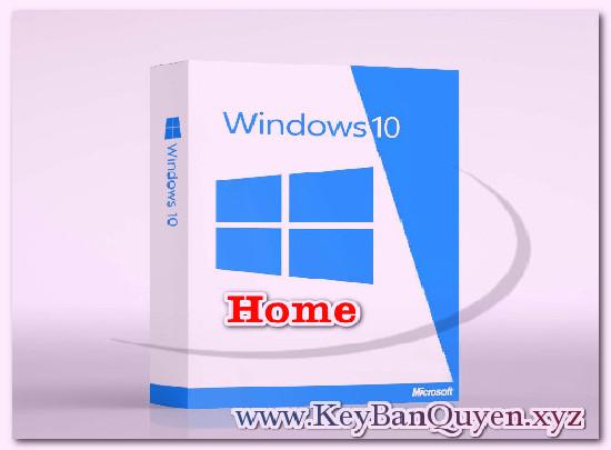 Mua bán key Windows 10 Home bản quyền Full 32 và 64 Bit