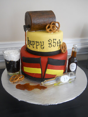 The Happy Caker German Beer Themed Cake