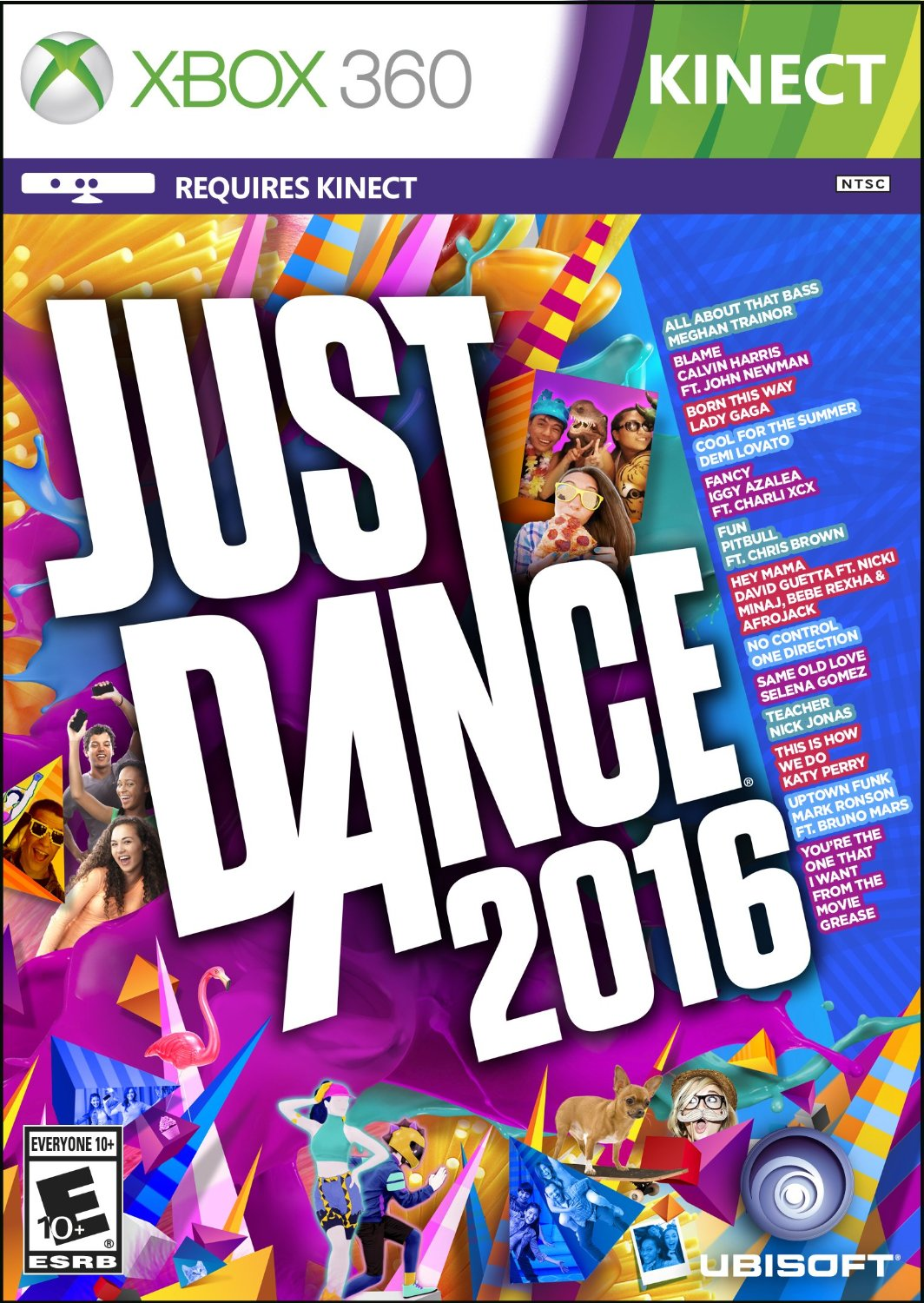 Just Dance 2016 ESPAÑOL XBOX 360 Cover Caratula