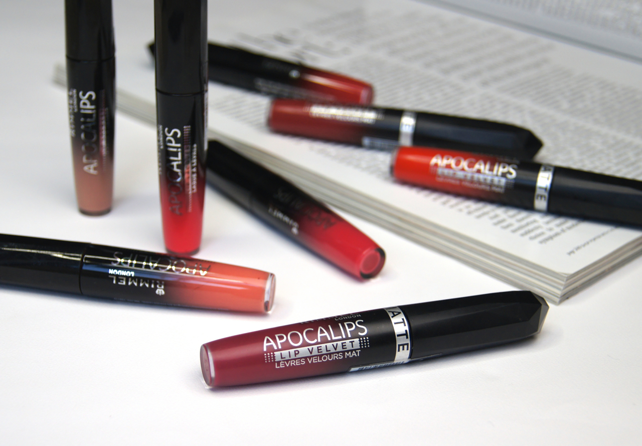 rimmel apocalips lip lacquer lip velvet collection review swatches