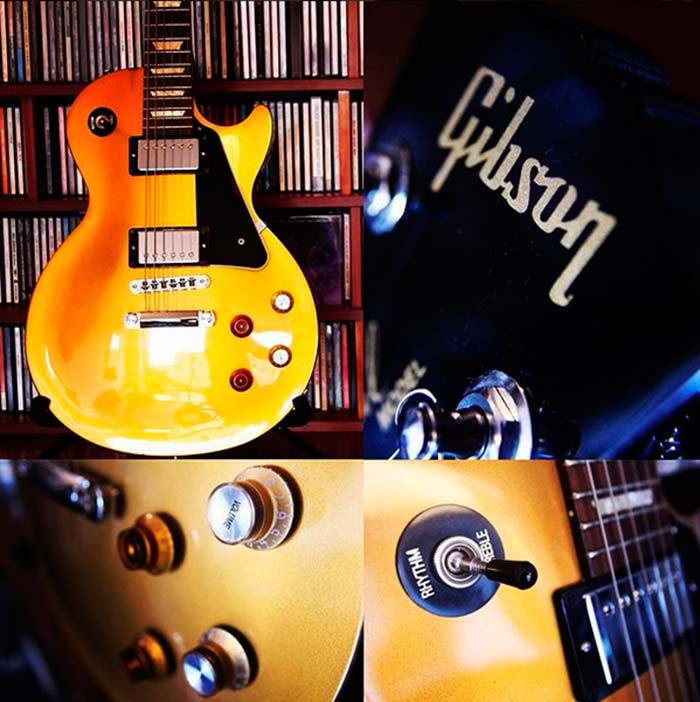 "Gibson Les Paul ""GoldTop"" propiedad de Julián Franco, utilizada para grabar el cover de ""How Soon Is Now""."