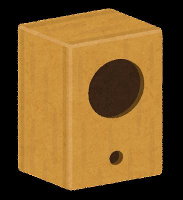 スピーカーボックスのイラスト