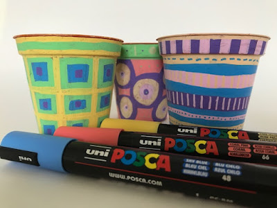 Posca Pastels pens for decorating flower pots craft