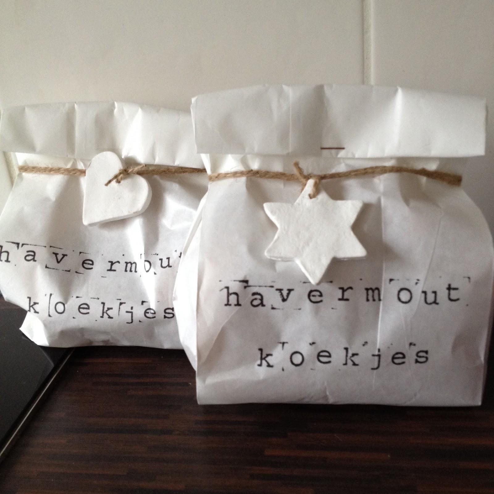 Aad actief cadeautip havermoutkoekjes voor een prikkie for Papieren broodzakjes