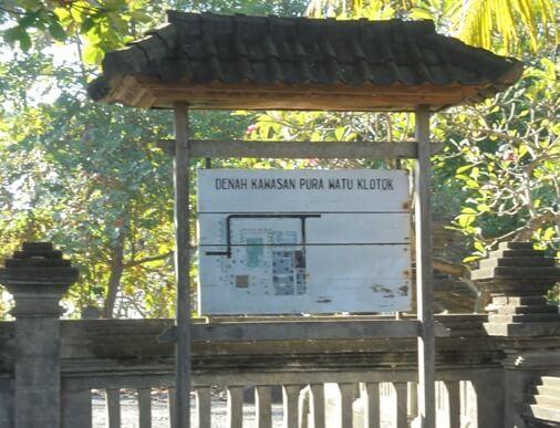 Pura Watu Klotok Bali, Sejarah Pura Watu Klotok Klungkung