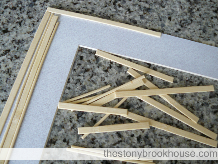 Piecing Bamboo Sticks on Mat