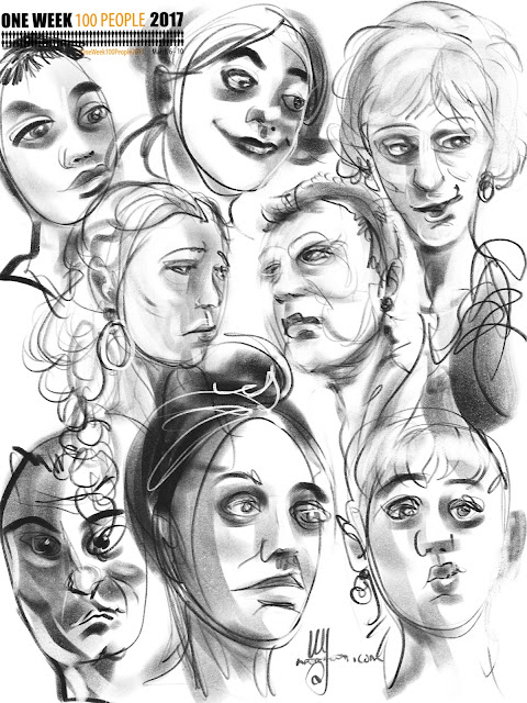Faces from the train station by Artmagenta