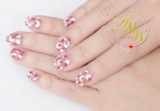 a photo of Happy Skin Express Gel Polish x KC Concepcion Power and Beauty nail art design by Nikki Tiu of www.askmewhats.com
