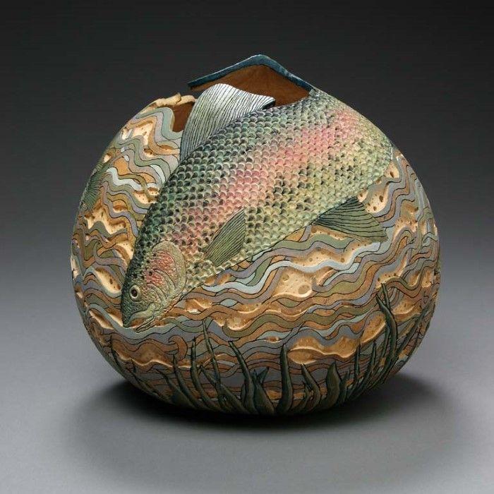 Скульптуры из тыквы. Marilyn Sunderland