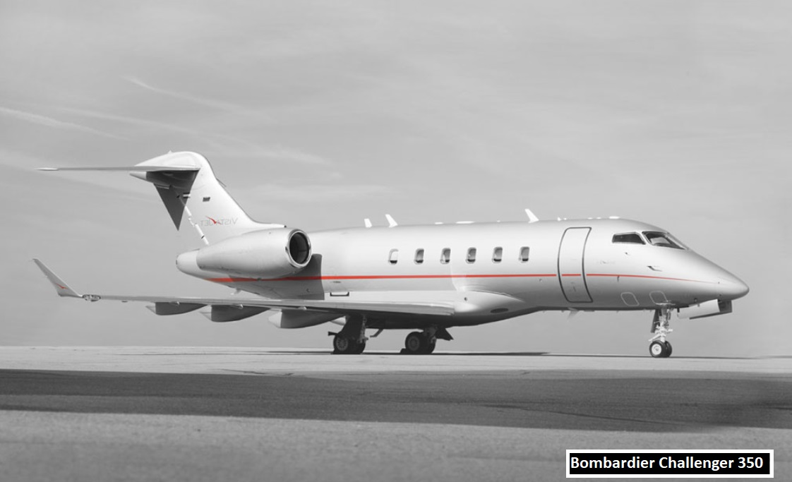 Beckham owns Challenger 350 Private Jet