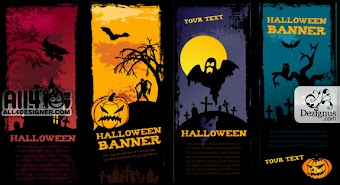 Scary Halloween Banners by All4designer.com
