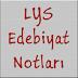 LYS Edebiyat Notları PDF İndir