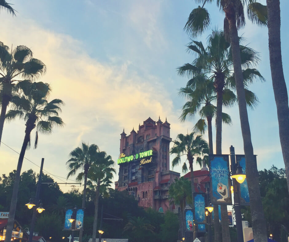 The Tower of Terror at Hollywood Studios - which also features some of the best places to eat in Walt Disney World theme parks.