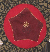 applique star in circle on basket for Cheri Payne basket