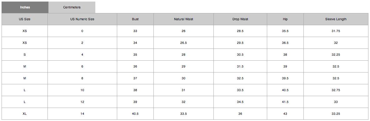 Elie tahari size chart also my charts rh mysizechartsspot