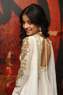 Telugu Actress Mahima Makwana Stills in White Desginer Dress at Venkatapuram Movie Logo Launch  0065.JPG