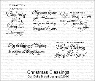 Our Daily Bread Designs - Stamps Christmas Blessings