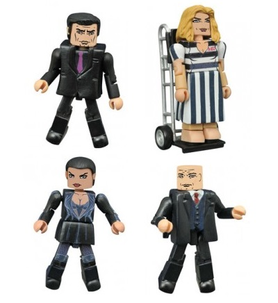 Gotham: Rise of the Villains Minimates Series 3 Box Set by Diamond Select Toys - Theo Galavan, Tabitha (aka The Tigress), Barbara Kean & Gotham City Police Chief Nathaniel Barnes