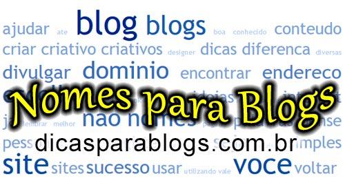 Nomes criativos para blogs