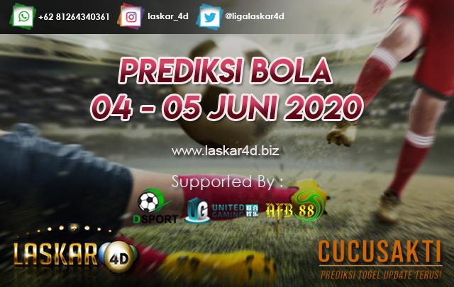 PREDIKSI BOLA JITU TANGGAL 04 – 05 JUNI 2020