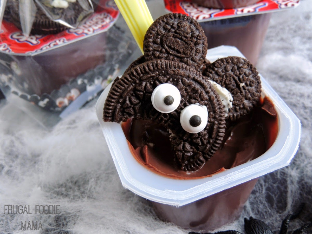 These easy to make Vampire Mickey Pudding Cups would be perfect to hand out at trick-or-treat, for a classroom party, or a fun neighborhood Halloween get-together.