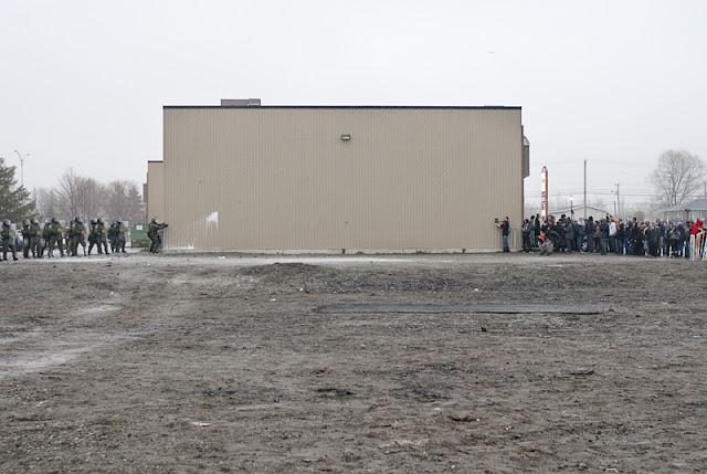 Manifestation, congrès du parti libéral du Québec, hôtel le Victorin, vendredi 4 mai 2012, Victoriaville [photos David Champagne]