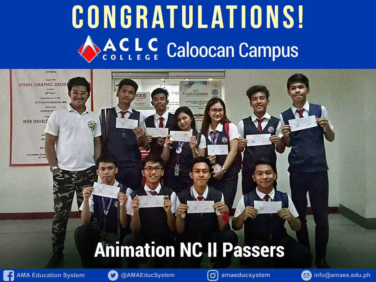 Animation NC II Passers - ACLC College Caloocan